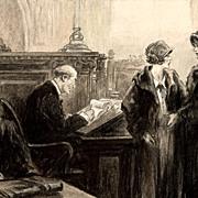 American Art - Ray Van Buren : A shocking Revelation - 1925 Sat. Evening Post Original Art