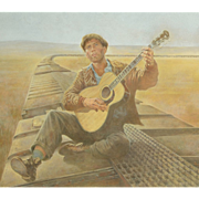 American Art - Tom Jung 1976: Bound For Glory Poster Original Art