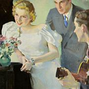 American Art - Camay Ad Original Art - Oil Painting