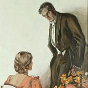 American Art - Elbert McGran Jackson 1933 Original Illustration Art Oil on Canvas
