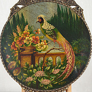 Signed Rigo: Bird of Paradise - Vintage Oil on board