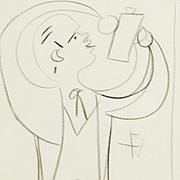 Jean Cocteau : Pencil Study for Le Pauvre Matelot, with 2 Rare Books