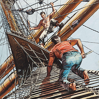 American Art - Two Years Before the Mast: 1958 Book Cover Original Art