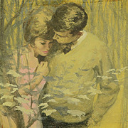 Frederick Laurent (GB, 1922-1995) - A Quiet Time, 1966 British Illustration Original Gouache