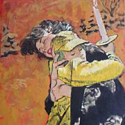 "American Art - Thornton Utz: ""The Boy Who Stayed Behind"", 1960 Cosmopolitan Original Illustration Art"