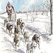 Ben Babelowsky: Sled Dog Races, Nepean, 1976 - Original Illustration Art