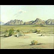 "American Art: Frederick Chisnall (1887-1965), ""Hilly Nature"", Vintage Oil Desert Landscape"