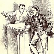 American Art - Bar Talk: Vintage Original Illustration Art