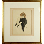 Raphaël Kirchner (Austrian, 1876-1917) - Yvonne Shelton, Rare Original Lithograph circa 1915