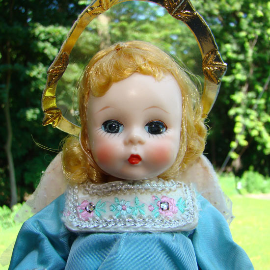 C1954 Madame Alexander Alexander-kins 7.5 Inch Guardian Angel Doll SLW 480