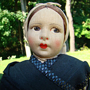 Old R P Made in Spain Regional Cloth Costume Doll Asturiana LE Woman - Red Tag Sale Item