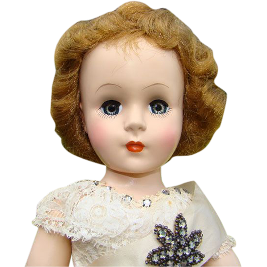 Nancy Ann Style Show Hard Plastic Doll Her Royal Magesty The Queen 1952