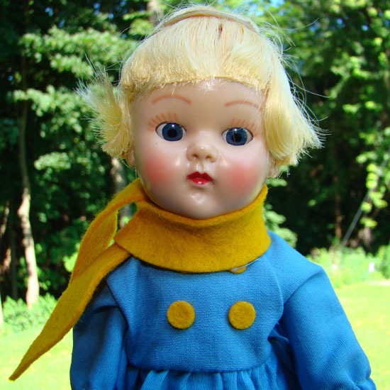 Ginny Doll Holland Dutch Boy Frolicking Fables 1954 Painted Lash