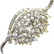 Vintage Crown Trifari Twinkle Clear Rhinestone Brooch 1952 Alfred Philippe For Trifari
