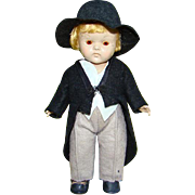 C1950-52 Strung PL Vogue Transitional Groom Ginny Doll 8 Inch HP