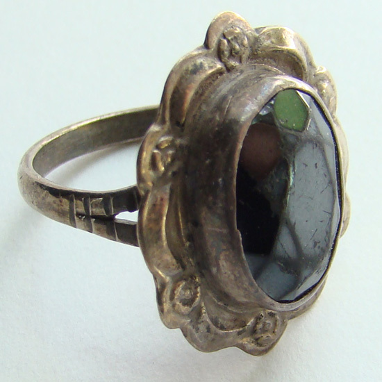 Vintage Mexico Sterling Silver Ring Eagle Mark 1 TNC Size 5.5 to 5.75