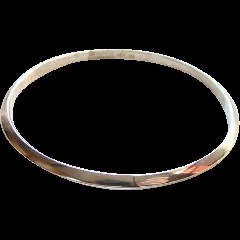 Erling Christoffersen Sterling Silver Modernist Bangle Bracelet Norway Plus Original Bag #X