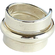 Modernist Norway Plus Design Ring Sterling Silver Size 6 1/2 ND Bag #O