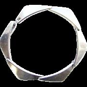 Hans Hansen Denmark Modernist Sterling Silver Bracelet Pre Owned