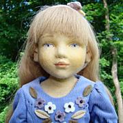 1999 Maggie Iacono Alyssa Felt Doll LE 25/60 Mint in Box 17 inches