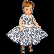 C1959 Ideal Little Miss Revlon Doll in Rare Torso Dress Box Blonde Ponytail