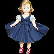 1959 Madame Alexander Cissette Doll 916 Navy Blue Taffeta Dress Rare Variation