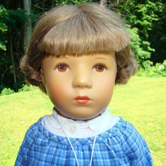 1983 Kathe Kruse Girl Doll Biene 35H in Original Box 14.5 Inch
