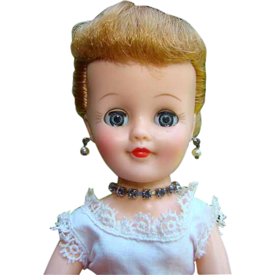 C1959 Vogue Jan Doll Jill Friend in Square Dance Dress Blonde Ponytail