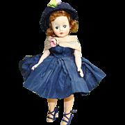 C1958 Cissette Doll Madame Alexander 820 Navy Taffeta Dress
