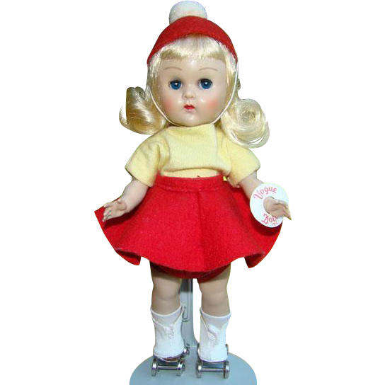 C1956 Vogue Ginny Doll Blonde ML SLW Roller Skater in Original Box
