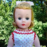 1958 Cissette Doll Blonde Red Dot Dress Teddy High Color Madame Alexander