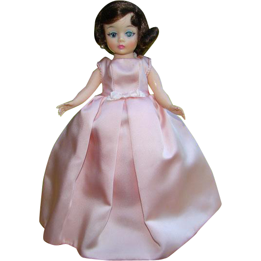 1962 Jackie Jacqueline Cissette Doll in 885 Pink Satin Gown Madame Alexander