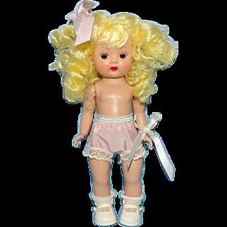 Nancy Ann Muffie Doll Pigtail Blonde Straight Leg Walker in Original Box C1955
