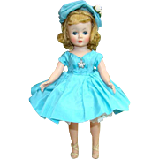 C1958 FAO Schwarz Exclusive Cissette Doll Aqua Party Dress Madame Alexander