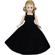 C1958-59 Cissette Doll in 973 Black Velvet Gown Fur Stole Madame Alexander