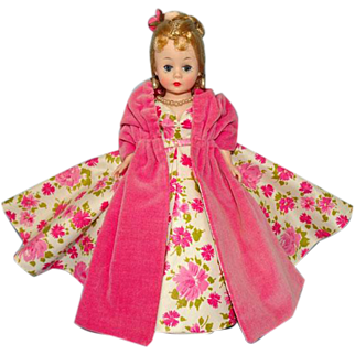Madame Alexander Cissette Doll in Pink Camellia Asters Ball Gown 1958 Very Rare
