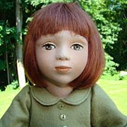1995 Maggie Iacono Effie Felt Girl Doll Limited Edition 42/75