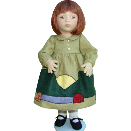 1995 Maggie Iacono Effie Felt Girl Doll Limited Edition 42/75