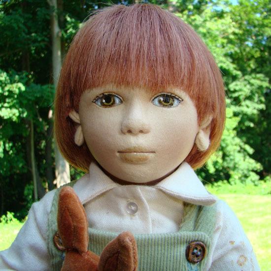1996 Maggie Iacono Velveteen Rabbit Felt Boy Doll Limited Edition 44/100