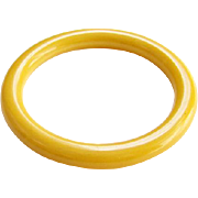 Vintage Sunflower Sunshine Yellow Bakelite Bangle Bracelet
