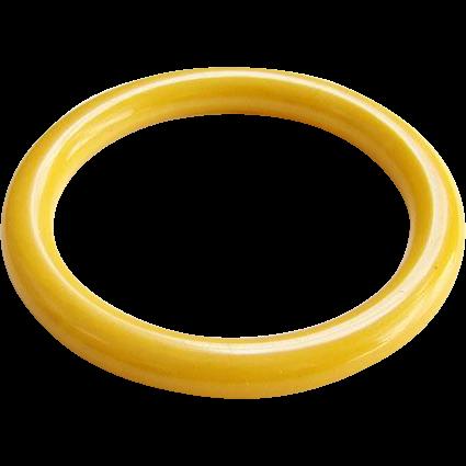 Vintage Sunflower Sunshine Yellow Bakelite Bangle Bracelet