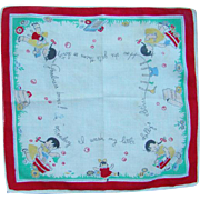 Vintage Child Handkerchief Hankie Hanky Little Girl Washing Dolly Clothes