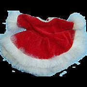 1950s Cosmopolitan Ginger Red Velvet Skating Dress 551 for 8 Inch Doll