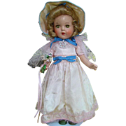 C1936 Arranbee Nancy Doll Composition 13 Inch Princess Elizabeth All Original