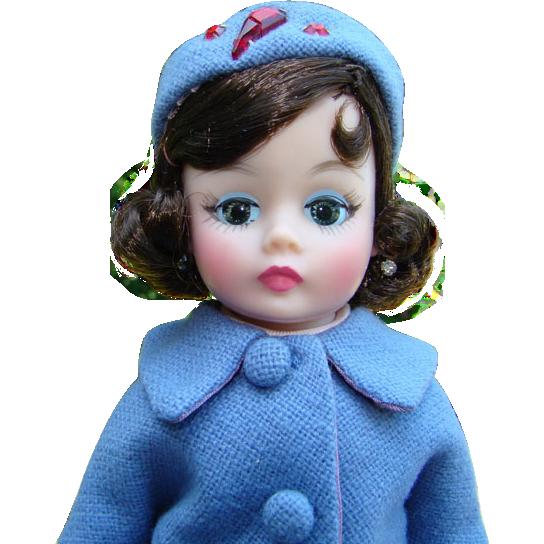 1962 Jacqueline Jackie Cissette Doll Blue Wool Suit Box Pristine Madame Alexander
