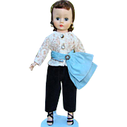 1957 Cissette Doll Brunette 905 in Black Toreador Pants Madame Alexander