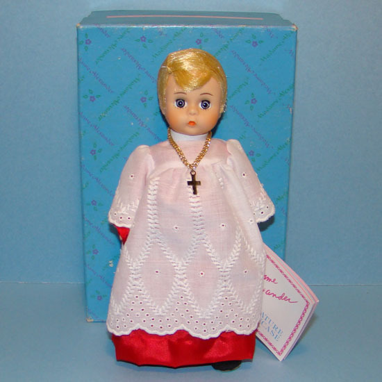 1990 Altar Boy Doll 311 Madame Alexander Miniature Showcase Minty