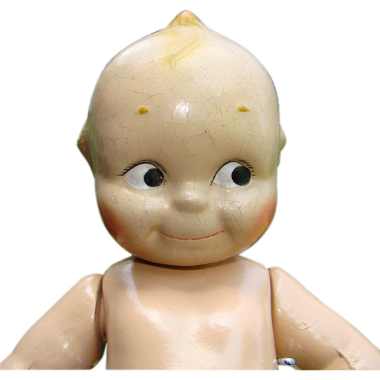 C1920-30 Cameo Doll Co Jointed Composition Compo Kewpie 13 Inch Starfish Hands