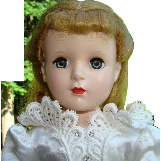 Madame Alexander Bride Doll Margaret Face 17 Inch Hard Plastic C1952