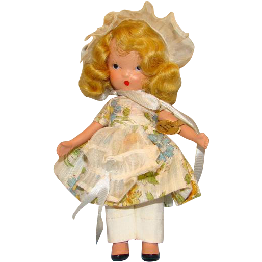 Nancy Ann Storybook Bisque Doll FL 118 Little Miss Muffet in Box